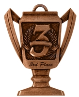 Trophy 3rd Place Medal<BR> Bronze<BR> 2.75 Inches