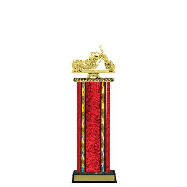 Wide Column<BR> Chopper Motorcycle Trophy<BR> 12-14 Inches<BR> 10 Colors