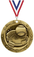World Class XXL<BR> Baseball Medal<BR> Gold/Silver/Bronze<BR> 3 Inches