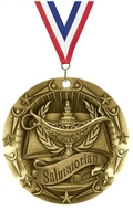World Class XXL<BR> Salutatorian Medal<BR> Gold/Silver/Bronze<BR> 3 Inches