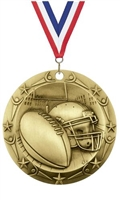 World Class XXL<BR> Football Medal<BR> Gold/Silver/Bronze<BR> 3 Inches