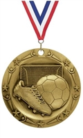 World Class XXL<BR> Soccer Medal<BR> Gold/Silver/Bronze<BR> 3 Inches