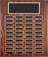 40 Plate<BR> Walnut Finish<BR> Perpetual Plaque<BR> 16x20 Inches