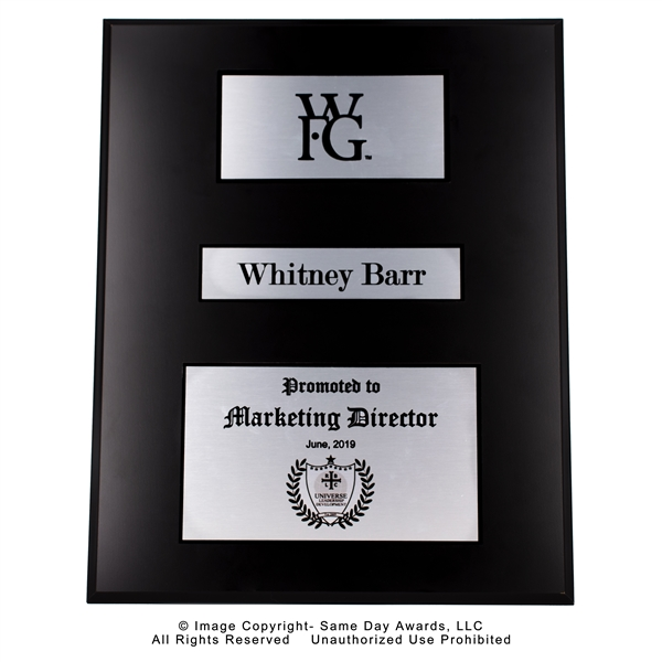 WFG Marketing Director <BR> Ebony Finish Plaque<BR> 16x20 Inches