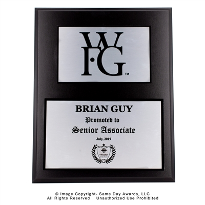 WFG Sr. Associate<BR> Ebony Finish Plaque <BR> 12 x 15 Inches