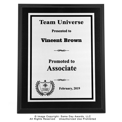 WFG Associate Plaque<BR> Ebony Finish Plaque<BR> 8 x 10 Inches