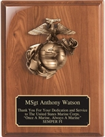 Marine Casting<BR> Genuine Walnut Plaque<BR> 9x12 Inches