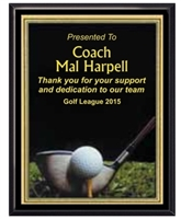Photo Sport<BR> Golf Plaque<BR> 2 Sizes
