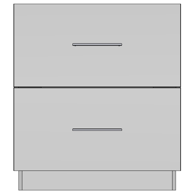 Base 2 Equal Drawer