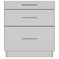 Base 3 Drawer (EU)