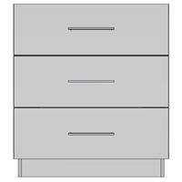 Base 3 Equal Drawer