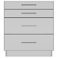 Base 4 Drawer (EU)
