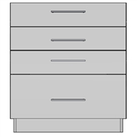 Base 4 Drawer (NA)