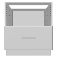 Base Microwave 1 Drawer