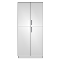 Pantry Double 4 Door
