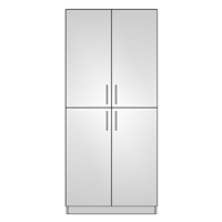 Pantry Double 4 Equal Door