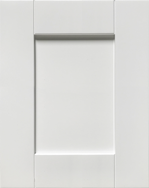 Vista Frameless White RTA Stock Cabinets Sample