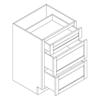 Kingston Gray Shaker Vanity Drawer Base