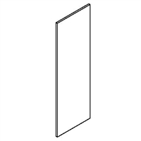 Kingston White Shaker Wall End Skin Panel