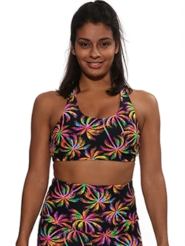 BAHIA BRA PRINTS - Neon Palm - Small