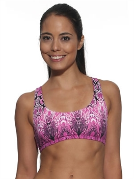 LIBERDADE BRA PRINTS - Pink Serpent - Small