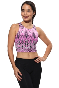RIBEIRA CROP TOP PRINTS - Butterfly - Small