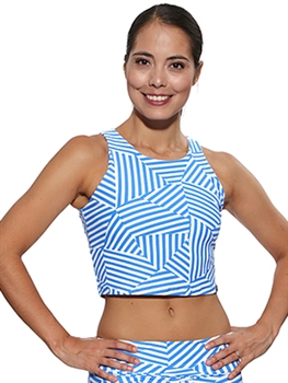 RIBEIRA CROP TOP PRINTS - Mykonos - Large