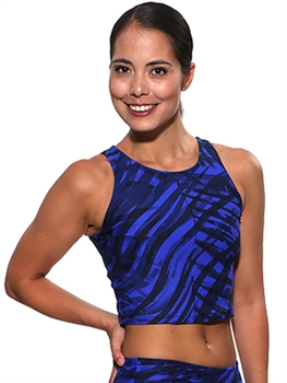 RIBEIRA CROP TOP PRINTS - Midnight Blue - Large
