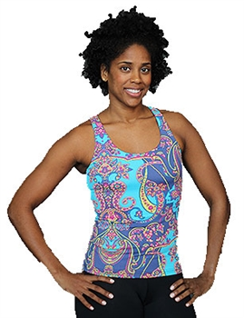 LIBERDADE TANK PRINTS - Blue Paisley - Small
