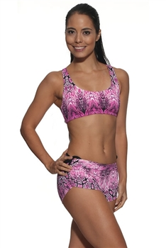 VITORIA SHORT PRINTS - Pink Serpent - Small