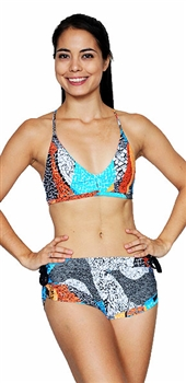 VITORIA SHORT PRINTS - Orange Mosaic - Small