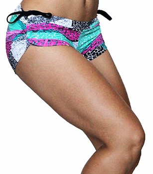 VITORIA SHORT PRINTS - Pink Mosaic - X-Small