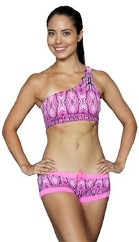 GRACE SHORT PRINTS - Pink Serpent - X-Small