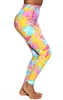 ITAPARICA HIGH-LOW LEGGING PRINTS - Yellow Flower - X-Small