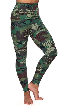 ITAPARICA HIGH-LOW LEGGING PRINTS - Fatigues - Small