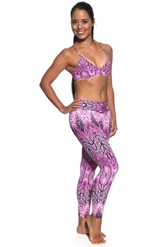 XIQUE XIQUE FULL LENGTH LEGGING PRINTS - Pink Serpent - Medium