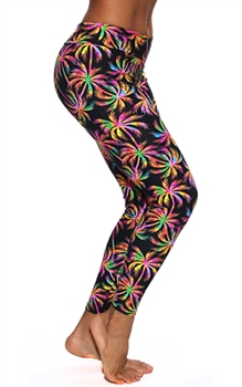 XIQUE XIQUE FULL LENGTH LEGGING PRINTS - Neon Palm - Small