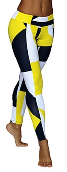 XIQUE XIQUE FULL LENGTH LEGGING PRINTS - Yellow Blocks - Small