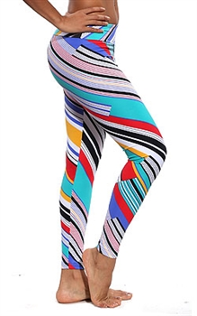 XIQUE XIQUE FULL LENGTH LEGGING PRINTS - Strokes - Large