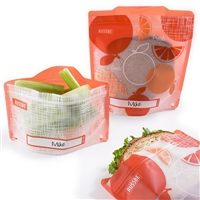 Orange Linen Russbe Sandwich and Snack Bags