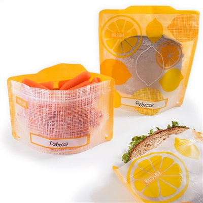 Lemon Linen Russbe Sandwich and Snack Bags