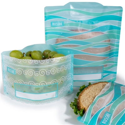 Waves Russbe Sandwich and Snack Bags