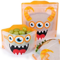 Orange Monster Russbe Sandwich and Snack Bags