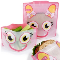 Pink Monster Russbe Sandwich and Snack Bags