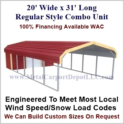 20 X 31 Regular Style Metal Combo Unit For Just 3 990 00