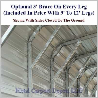 18 X 21 Regular Style Metal Carport 995 00 Free
