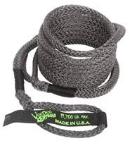 1/2 inch x 20 foot Black Recovery Rope by VooDoo Offroad