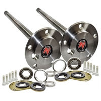 Quadratrack 76-79 CJ7 Axles, One Piece M20 W  Bearings, Jeep Kit