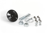 Hood Pin Kit Black Single Includes Polyurethane Isolator Pin Spring Clip and Related Hardware Daystar