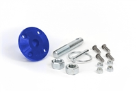 Hood Pin Kit Blue Single Includes Polyurethane Isolator Pin Spring Clip and Related Hardware Daystar